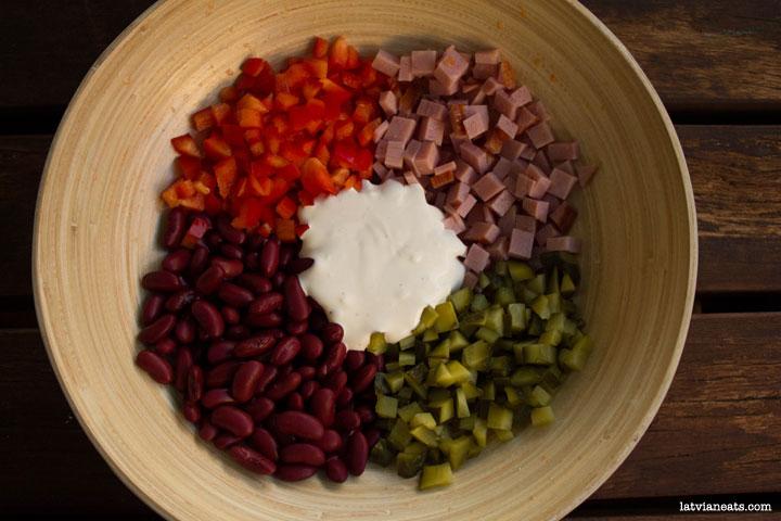 Bean salad//Pupiņu salāti