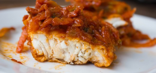 fish with carrots and tomatoes