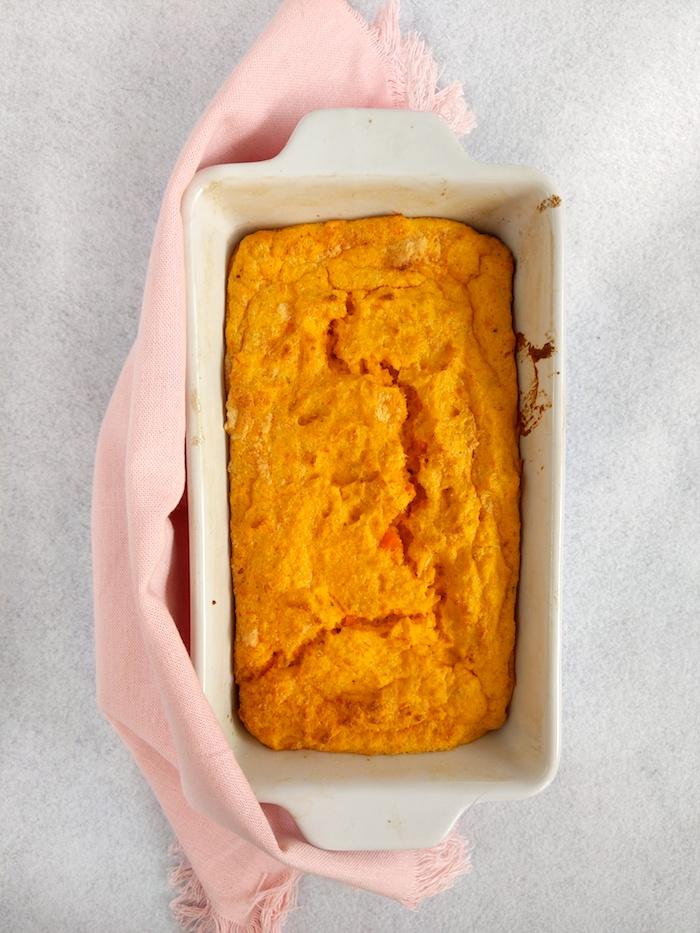 Carrot pudding (Burkānu pudiņš)